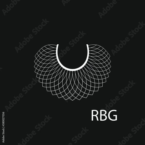 Fototapeta Lace RBG background, banner, poster, sticker, t-shirt design obraz