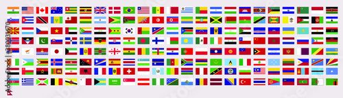 Fotografía All official national flags of the world, vector design, country flag all stock vector design