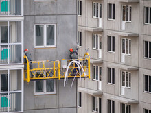 Industrial Climbers Work On Th...