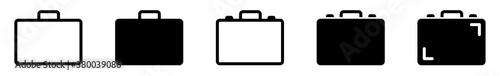Fototapeta Suitcase Icon Black | Briefcase Illustration | Business Bag Symbol | Travel Bagg
