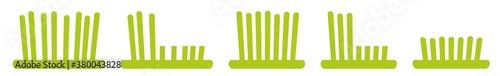 Fotografija Grass Icon Green | Lawn Illustration | Mow Symbol | Mowing Meadow Logo | Cut Sig