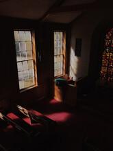 Interior Shot Of A Small Chapel