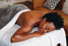 Black Woman Getting Relaxing M...