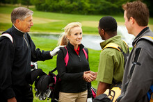 Golf: Business Introduction On The Golf Course