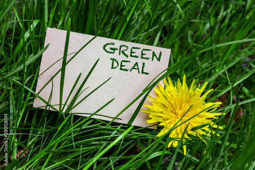 Fototapeta Green Deal obraz
