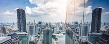 Skyscrapers In The City, Busin...