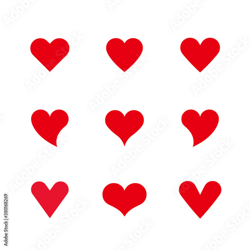 Photographie Vector Hearts Set
