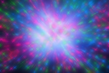 An Abstract Multicolored Sparkly Burst Background Image.
