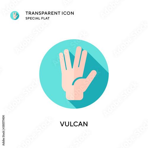 Canvas-taulu Vulcan vector icon. Flat style illustration. EPS 10 vector.