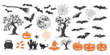 Halloween Symbols Hand Drawn I...
