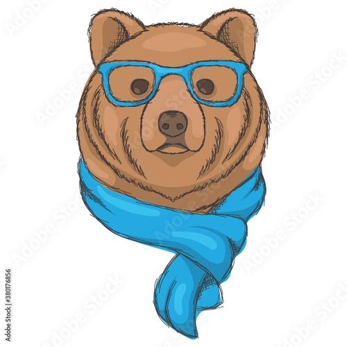 Canvas Print Bear character