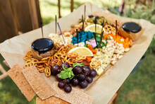 Wooden Buffet Table With Snack...