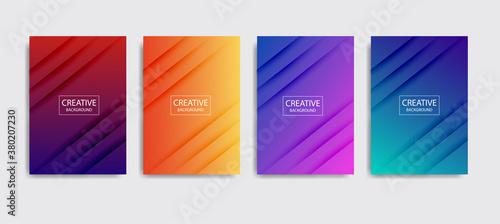 Fototapeta Minimal covers design. Colorful halftone gradients.background modern template design for web. Cool gradients. Future geometric patterns. Eps10 obraz
