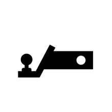 Trailer Hitch Black Silhouette. Vector