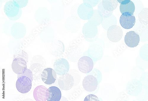 Fototapeta Light Pink, Blue vector backdrop with dots. obraz na płótnie