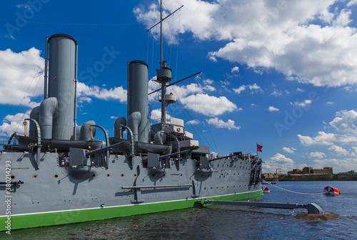 Cuadros en Lienzo Aurora cruiser museum ship - Saint-Petersburg Russia