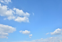Blue Sky With Scattered Cloud...