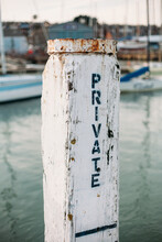 Anchoring Pole In Private Marina