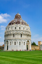 Detail Of The Baptistery Of Pisa