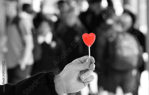 Fotografie, Obraz Outstretched hand offering a sign or symbol of love, care and compassion