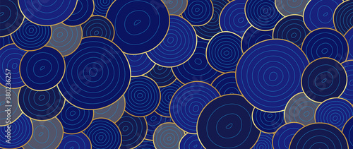 Luxury Gold line art wallpaper. Wall art background design for home decor, wallpaper, print, cover, website, packaging design. vector illustration.