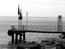 Pier On The Bosphorus Strait Of Istanbul