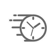 Flying Clock Icon