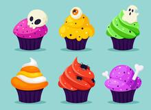 Happy Halloween. Creepy Cupcak...