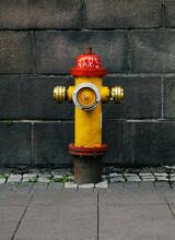 Grunge Metallic Water Pump In The Street