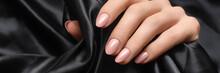 Rose Nail Polish Manicure. Wom...