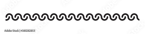 Fototapeta wave pattern border design