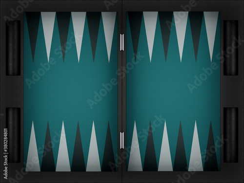 Fototapeta backgammon game board. 3d render