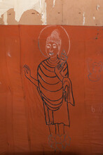Painting Of The Buddha On The Wall