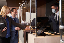 Receptionist In Medical Mask R...