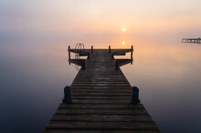 A Jetty In A Lake During A Tra...
