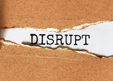 DISRUPT . Your Journey Starts ...