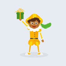Happy And Cute Kid With Yellow Costume Celebrate Holidays - Vector Illustration Isolated