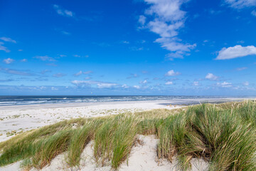 A sunny afternoon at the beach on the East Frisian island Juist, Germany.