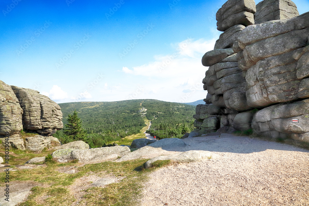 Trzy Swinki or Svinske kameny (in Polish and Czech) is a large granite rocks, on the border between Poland and the Czech Republic.