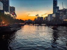 Sunset In Yarra River, Melbour...
