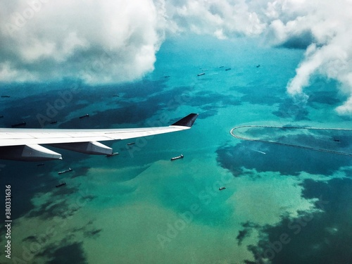 Aerial View in Fiji Canvas
