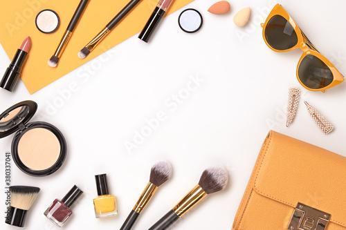 Fototapeta Beauty cosmetic makeup set