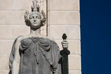 Statue On Monument To Constitu...