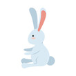 cute little rabbit easter animal seated