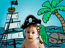 Girl (12-17 Months) Dressed Up As Pirate