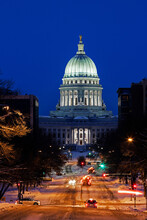 Illuminated State Capitol Buil...