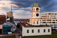 Halifax Town Clock In Evening Sunlight