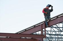 Man Welding Steel Bar