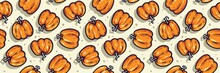 Pattern With Halloween Pumpkin...