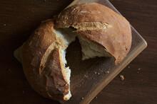 Fresh Baked Bread Split Open